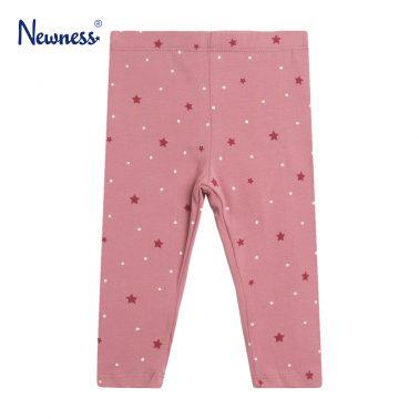 Детски клин с принт на звездички и точки в розово
