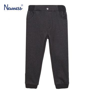 Детски ватиран спортен панталон в черно