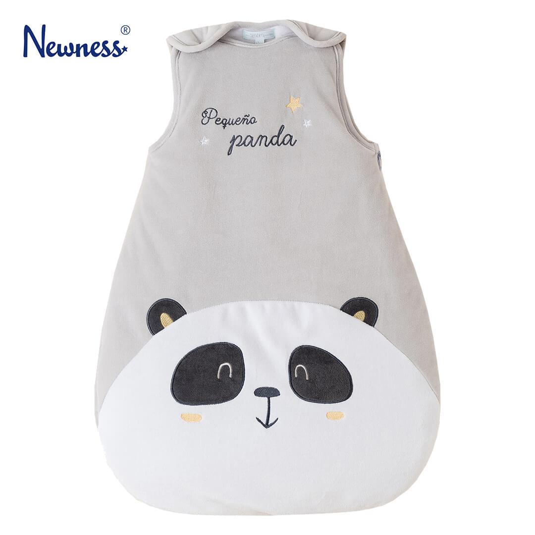 Бебешко чувалче за спане ватирано с панда в сиво