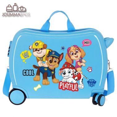 Детски куфар возилка Пес Патрул в синьо