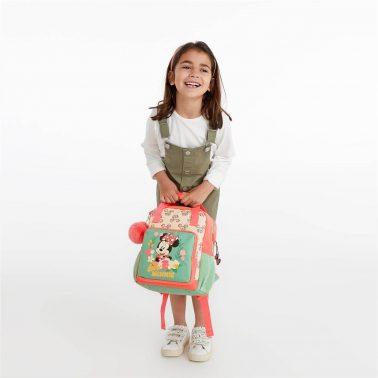 Детска малка раница с пухче Мини Маус