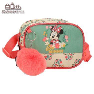Детска чанта за кръст с пухче Мини Маус