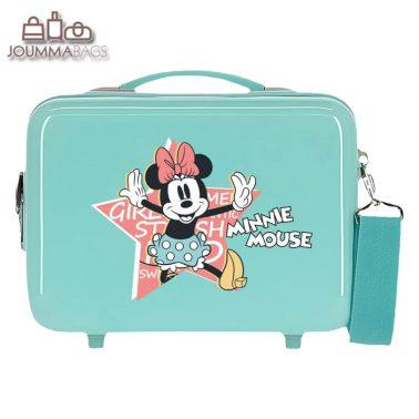 Детска твърда пътна чанта с Мини Маус и звезда