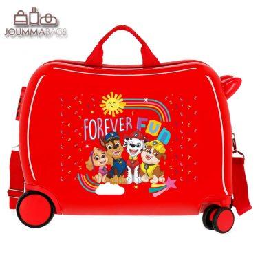 Детски куфар возилка Пес Патрул в червено