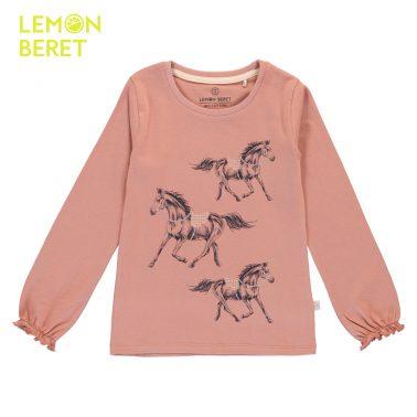 Детска блуза с щампа кончета в розово