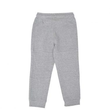 Детско долнище с джобове и ластици на крачолите в сиво
