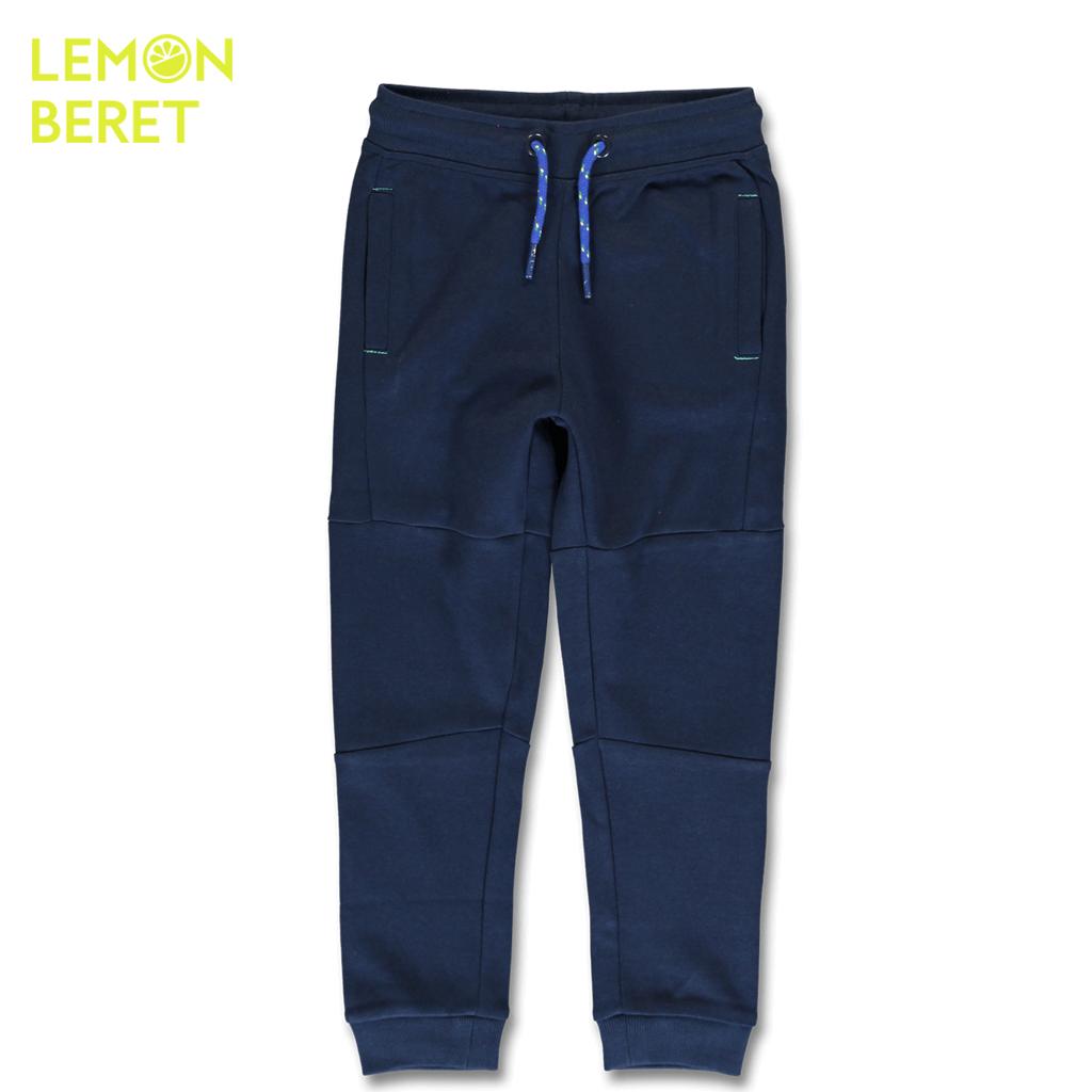 Детско долнище с джобове и ластици на крачолите в тъмно синьо