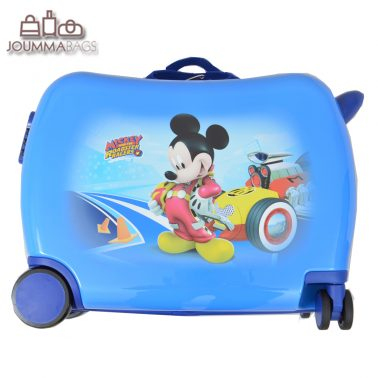 Детски куфар возилка с Мики Маус в синьо