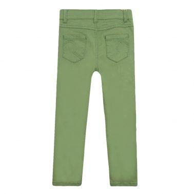 Панталон тип дънки с джобове в зелено
