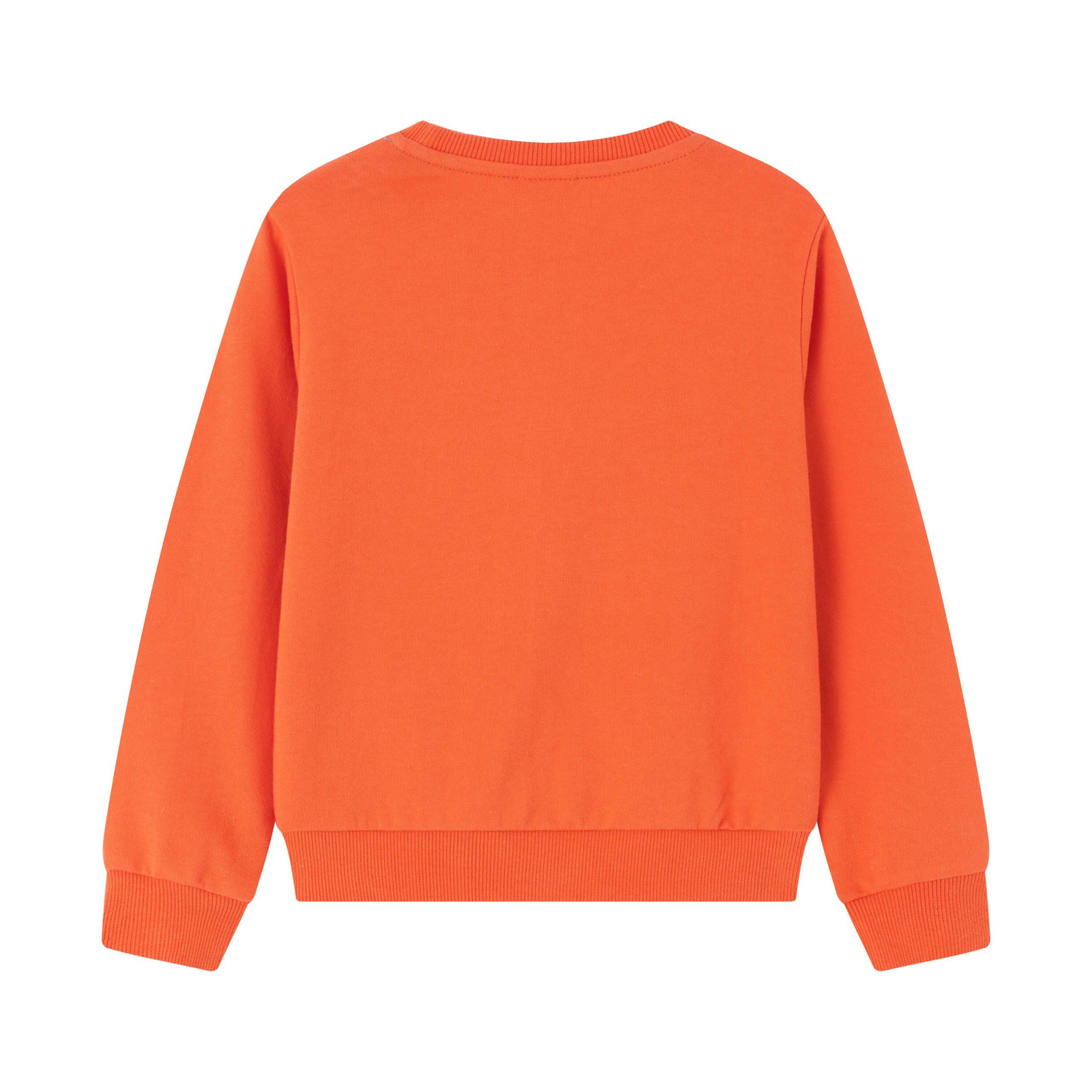 Детска ватирана блуза с щампа кола в оранжево