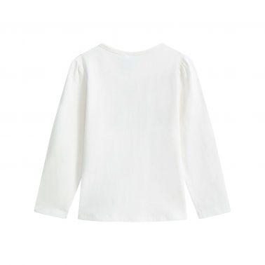 Детска блуза с щампа фея в бяло
