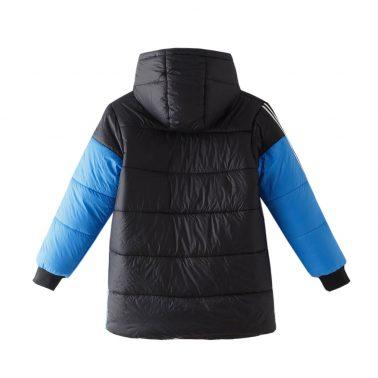 Детско зимно яке с качулка в синьо