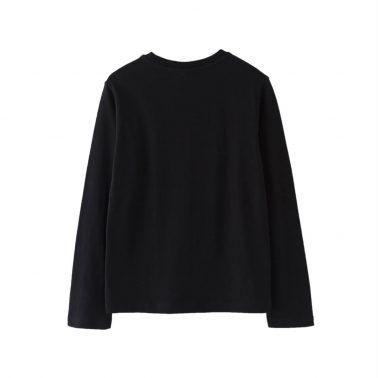 Детска блуза с голяма щампа в черно