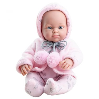 Кукла бебе с якенце и ританки на букви 32 см