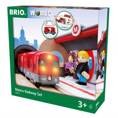 Комплект влакче с релси и аксесоари Metro Railway