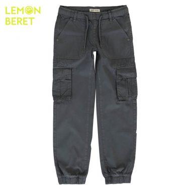 Детски панталон със странични джобове в сиво