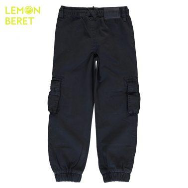 Детски панталон със странични джобове в синьо