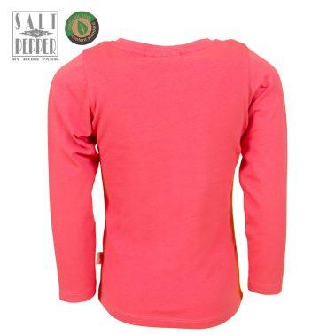 Детска блуза с апликация конче с пайети в розово