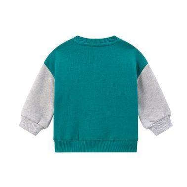 Детска ватирана блуза с апликация кученце в зелено
