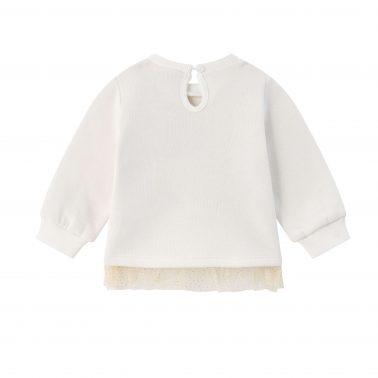 Детска ватирана блуза с апликация бонбон и надпис в бяло