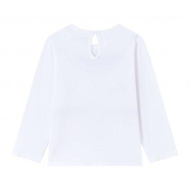 Детска блуза с щампа гердан и сърчице в бяло