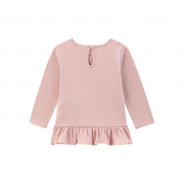 Детска блуза с щампа момиче и еднорог в розово